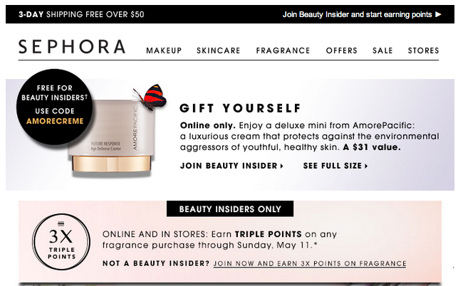 sephora points